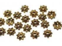 Perlkappen, gold-/bronzefarben