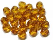 Glasschliffperle, ca. 6 mm, honig, 25 Stück
