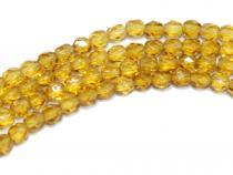 Glasschliffperle 4 mm, crystal honey, kurzstrang