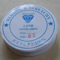 0,12 €/m Stretchband, Nylon, kristallklar, 1 mm, 5 m Rolle