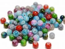 Perle Marmor, ca. 4 mm, bunt gemischt, 100 Stück