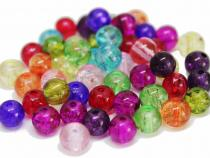 Crash Crackle Perle, ca. 6 mm, bunt gemischt, 50 Stück