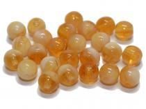 Glasperle, 6 mm, cream opal, 25 Stück