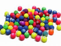 Acryl Perle gummiert, 8 mm, 25 Stück Farbwahl