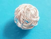 Knäuel, ca. 13 - 14 mm, 925/- Silber