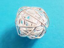 Knäuel, ca. 15 - 16 mm, 925/- Silber