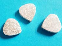 Herz, ca. 12 x 11 x 4 mm, gebürstet, 925/- Silber