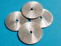 Scheibe, Blatt, ca. 18 mm, 925/- Silber