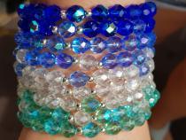 Armband aus Glasschliffperlen - Farbwahl