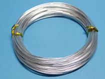 Aluminiumdraht, 2 mm, 12 m, silberfarben