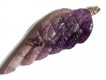 Amethyst Flügel, ca. 55 x 23 mm, mit Silberöse