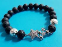 Modisches Armband in Lava mit Sternchen