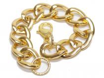 Armband, ca. 21 cm, mit Karabiner, goldfarben