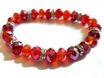 Armband aus Glasschliffperlen in rot