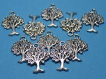 Baum, Lebensbaum Anhänger, 10 Stück