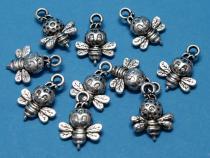 Biene, Bienchen, ca. 16x12x4mm mit Öse, 10 Stück