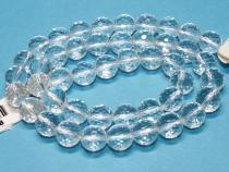 Bergkristall Perle, Kugel, ca. 10 mm, fac., Strang