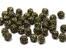 Rose, ca. 5 mm, bronzefarben, 20 Stück