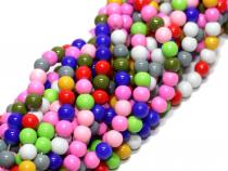 Glasperlen Bubblegum 6 mm, Strang