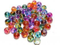 Perle Dot, ca. 10 mm, bunt gemischt, 25 Stück