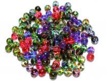 Perle Dot, ca. 6 mm, bunt gemischt, 50 Stück
