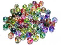 Perle Dot, ca. 8 mm, bunt gemischt, 50 Stück