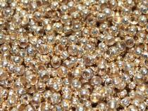 Crimp, Quetschperle, rund, goldfarben, ca. 2 mm, 100 Stück