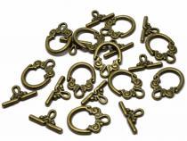 Knebel-Verschluss bronzefarben, ca. 20 x 14 mm,10 Stück