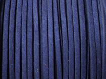 0,45 €/m Velour Wildleder Imitat Band, ca. 3 x 1,5 mm, 3 Meter, Farbwahl dunkelblau
