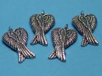 Flügel, Doppelflügel, ca. 28 x 17 mm, 4 Stück