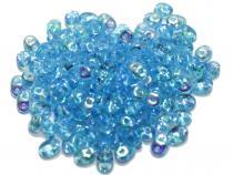 0,18 €/g Duobeads, Twinbeads. blue lustered, 10 Gramm