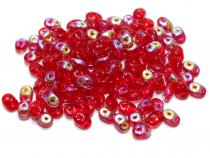 0,18 €/g Duobeads, Twinbeads. red lustered, 10 Gramm