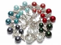 Ohrhänger Engelchen mit Herz Renaissance Perlen, Farbwahl
