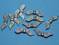 Flügel, Eulenflügel, Vogelflügel, ca. 22 mm x 7 mm, 10 Stück