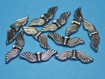 Flügel, Engelsflügel mit Taille, ca. 21 x 7 x 2,5 mm, 10 Stück