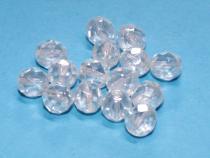 Glasschliffperle 8 mm, crystal lustered, 15 Stück