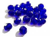 Glasschliffperle, ca 7 mm, dunkelblau, 20 Stück