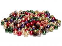 Glasperlen, Glaswachsperlen, 8 mm, 25 St., Farbmix Auswahl Fall Mix