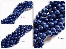 Glaswachsperle Blau, 6, 8 oder 10 mm, Strang