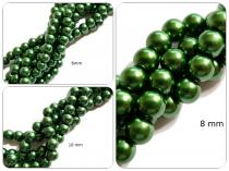 Glaswachsperle Grün, 6, 8 oder 10 mm, Strang