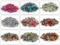 Glasperlen, Glaswachsperlen, 6 mm, 50 St., Farbmix Auswahl