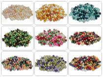 Glasperlen, Glaswachsperlen, 4 mm, 100 St., Farbmix Auswahl