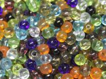 Glasperle, ca. 4 mm, bunt gemischt, 100 Stück