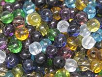 Glasperle, ca. 6 mm, bunt gemischt, 50 Stück
