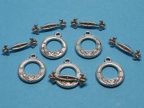 Knebel-Verschluss elegant, ca. 16 x 19 mm, 5 Stück