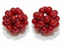 Korallen Ball, ca. 18 mm, rot, 2 Stück