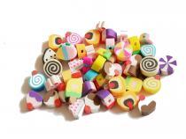Polymer Perlen Kuchen und Eis, ca. 8-12 mm, 50 Stück