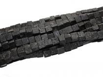 Lava Würfel, schwarz, ca. 8 x 8 mm, grade gebohrt, Strang