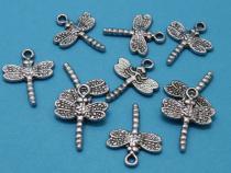 Libelle, ca. 20 x 16 x 2 mm, 10 Stück