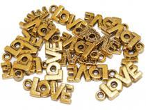 Love Schriftzug, ca. 21 x 8 mm, goldf., 10 Stück